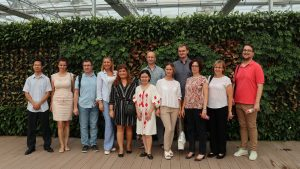 Central and Eastern European officials training class visits Top Cloud-agri Base